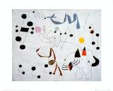 Mujer Sonando en su Evansion, c.1945 Reproduction d'art par Joan Miró