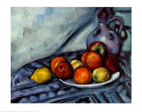 Natures mortes Reproduction d'art par Paul Cézanne
