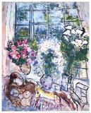 La fenêtre blanche Reproduction d'art par Marc Chagall