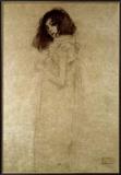 Portrait d'une jeune femme, 1896-97 Reproduction giclée encadrée par Gustav Klimt
