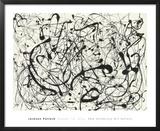 N° 14, gris Reproduction encadrée par Jackson Pollock