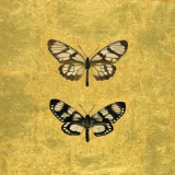 Pair of Butterflies on Gold