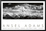 Mt McKinley Range  Clouds  Denali National Park  Alaska  1948