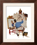 """Triple Self-Portrait""  February 13 1960"