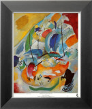 Improvisation31 (Bataillenavale),1913 Reproduction laminée et encadrée par Wassily Kandinsky