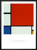 Composition avec du rouge, du jaune et du bleu Reproduction encadrée par Piet Mondrian