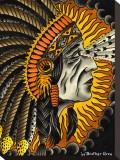 Crazy Horse Tableau sur toile par Brother Greg
