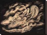 Dragon & Smoke Tableau sur toile par Clark North