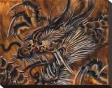 Gold Dragon Tableau sur toile par Mike Godfrey