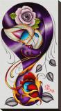 Violet Tableau sur toile par Dave Sanchez