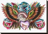 Eagle & Heart Tableau sur toile par English (Artist)