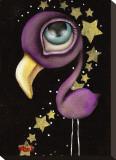 Purple Flamingo Tableau sur toile par Abril Andrade