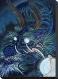 Dragon bleu Tableau sur toile par Mike Godfrey
