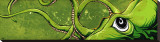 Underwater Curiosity Green Tableau sur toile par David Lozeau