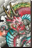 Rising Red Dragon Tableau sur toile par Samuel Gosson
