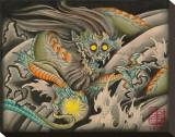 Oni Dragon Tableau sur toile par Samuel Gosson