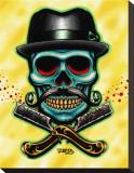 Barber Skull Tableau sur toile par Tyler Bredeweg