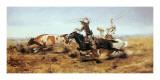 O H Cowboys Roping a Steer