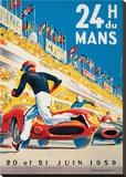 Le Mans 20 et 21 Juin 1959 Tableau sur toile par Beligond