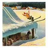 """""""Barn Skiing""""  February 17  1951"""