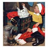 """Truth About Santa"", December 15, 1951 Giclée par Richard Sargent"