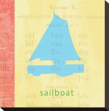 Vintage Toys Sailboat Tableau sur toile par Paula Scaletta