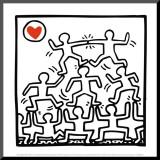 One man show, détail Reproduction montée par Keith Haring