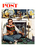"""Mr Fix-It"" Saturday Evening Post Cover  January 14  1956"