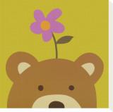 Peek-a-Boo VI, Bear Tableau sur toile par Yuko Lau