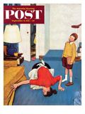 """""""Missing Shoe"""" Saturday Evening Post Cover  September 8  1951"""