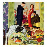 """Doggy Buffet"", January 5, 1957 Giclée par Richard Sargent"