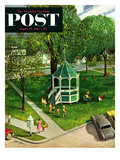 """Town Green"" Saturday Evening Post Cover  August 15  1953"