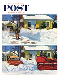"""Plowed-Over Driveway"" Saturday Evening Post Cover  December 18  1954"