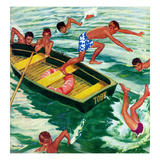 """Rowboat Diving""  July 12  1952"