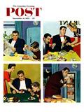 """Night Raid"" Saturday Evening Post Cover  November 6  1954"