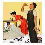 """Take Your Medicine"", September 23, 1950 Giclée par George Hughes"