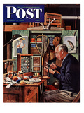 """Tying Flies"" Saturday Evening Post Cover  March 4  1950"