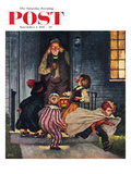 """Tricking Trick-Or-Treaters"" Saturday Evening Post Cover  November 3  1951"