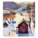 """""""Snow on the Farm""""  December 22  1956"""