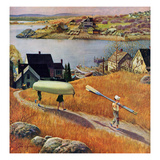 """""""Children with Rowboat""""  October 31  1953"""