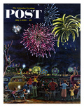 """Fireworks"" Saturday Evening Post Cover  July 4  1953"