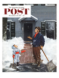 """More Snow"" Saturday Evening Post Cover  December 29  1951"