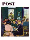 """Bridge Party"" Saturday Evening Post Cover  November 28  1953"