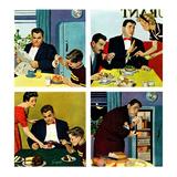 """Night Raid"", November 6, 1954 Giclée par Richard Sargent"