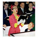 """""""Singing Praise"""", March 7, 1959 Giclée par Richard Sargent"""