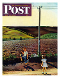 """Muddy Walk Home"" Saturday Evening Post Cover  May 13  1950"