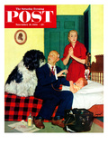 """Dr and the Dog"" Saturday Evening Post Cover  November 21  1953"