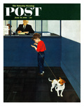 """""""Dog License"""" Saturday Evening Post Cover  June 21  1952"""