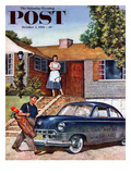 """This Car Needs Washing"" Saturday Evening Post Cover  October 3  1953"