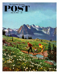 """""""Picnic On Mt Ranier"""" Saturday Evening Post Cover  July 17  1954"""
